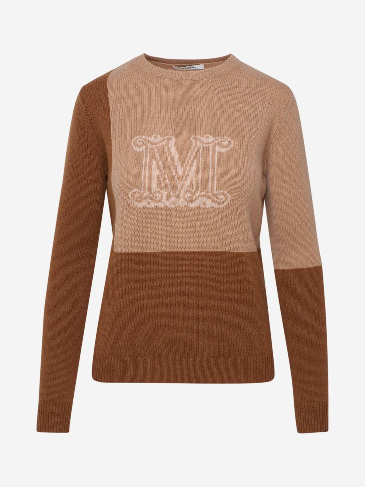 Max Mara Sweaters BROWN CAIMANO SWEATER