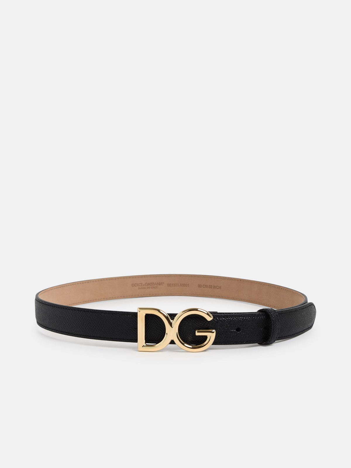Dolce & Gabbana BLACK LOW BELT