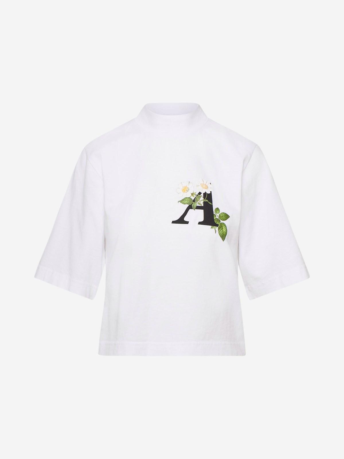 Palm Angels T-SHIRT DAISY LOGO BIANCA