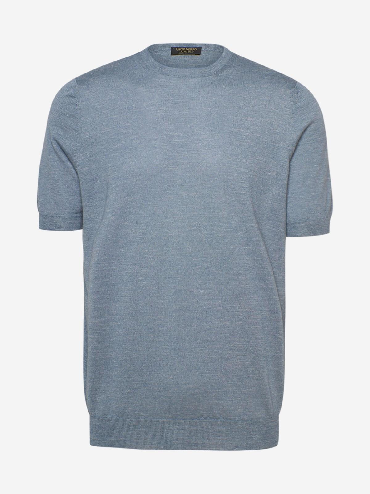 Gran Sasso T-shirts LIGHT BLUE T-SHIRT