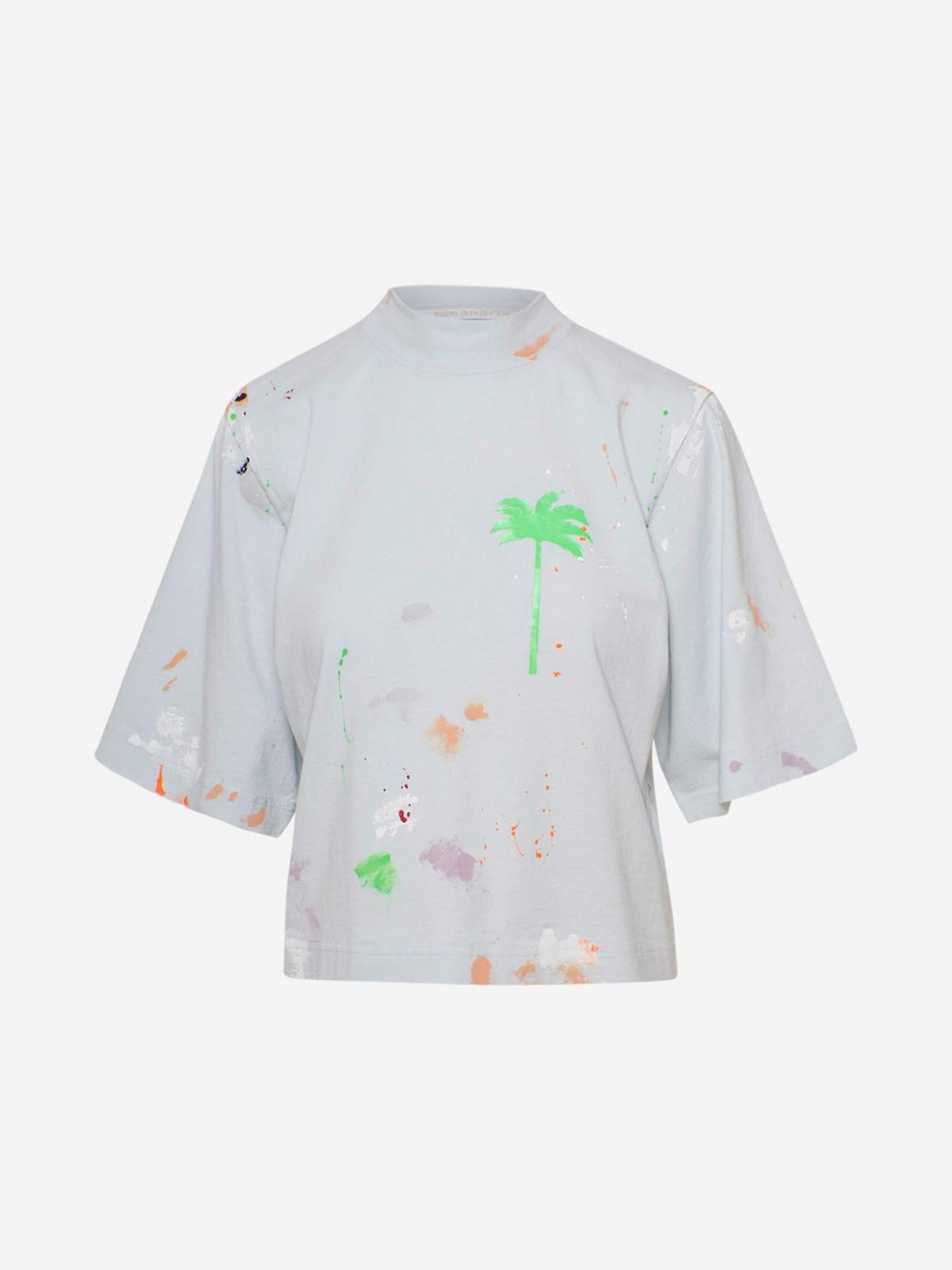Palm Angels T-shirts LIGHT BLUE PXP T-SHIRT