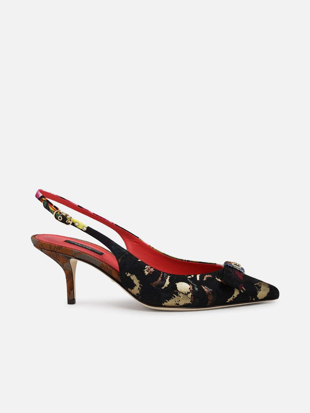 Dolce & Gabbana Mid heels MULTICOLOR SLINGBACK PUMPS