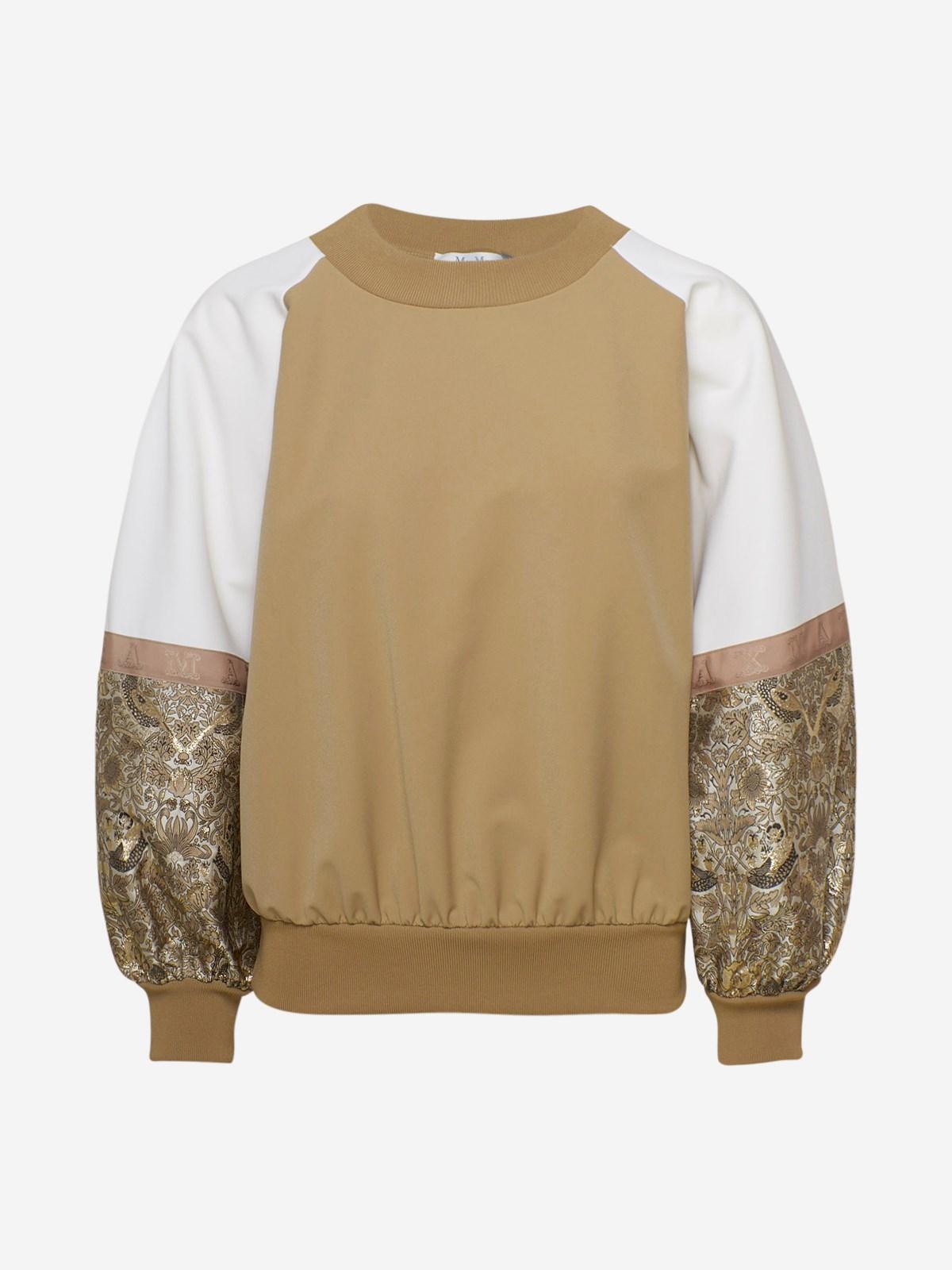 Max Mara Clothing BEIGE MIRCO SWEATSHIRT