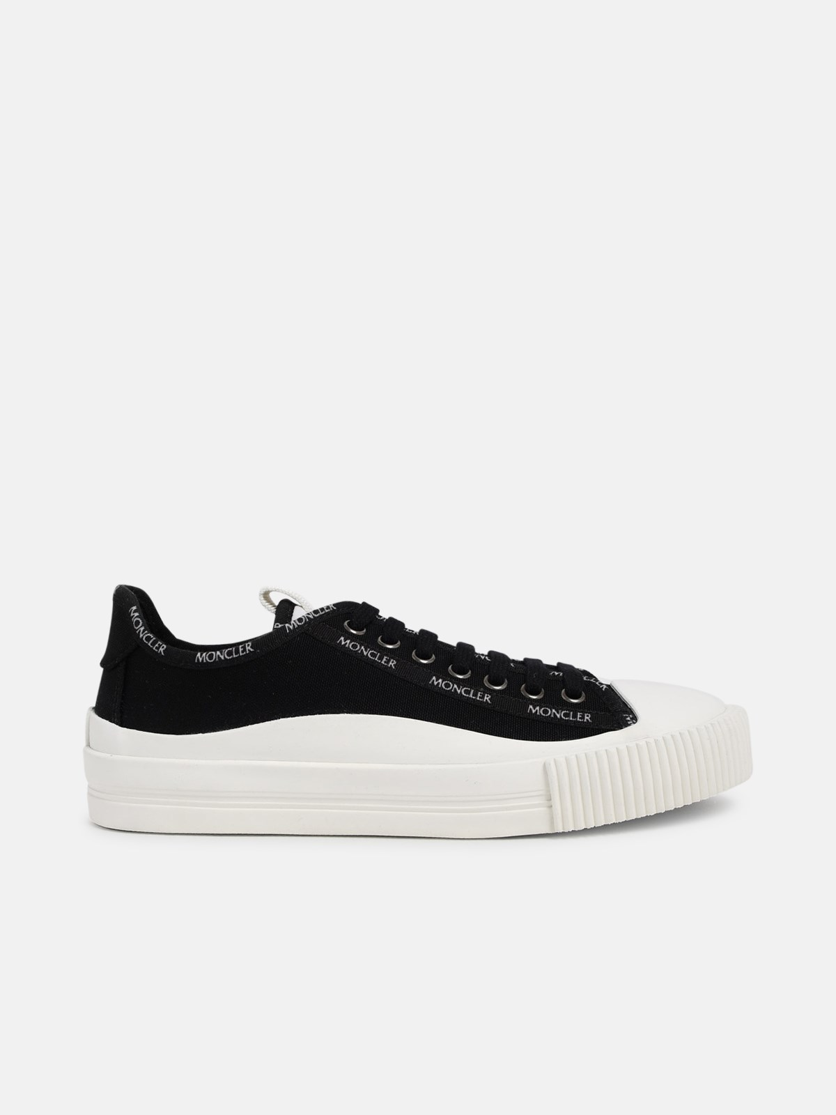 Moncler Canvases BLACK GLISSIERE SNEAKERS